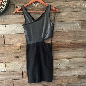 Black Bebe cocktail mini dress